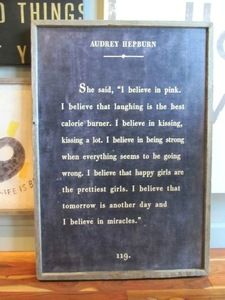 audrey hepburn antiqued sign by sugarboo designs - Sugarboo