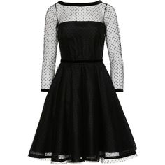 Marc by Marc Jacobs Polka Dot Tulle Dress (3.740 RON) ❤ liked on Polyvore featuring dresses, holiday cocktail dresses, fitted cocktail dresses, a line dress, a line cocktail dress and holiday dresses