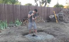 Mark the perimeter | Turn Your Backyard Into A Camping Area With This DIY Outdoor Fire Pit