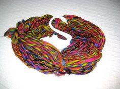 Handspun Yarn / Neon Summer / Soft Merino  / by by Dreamfiber