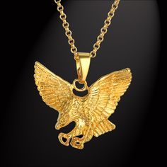 Punk Eagle Necklaces Pendants Mens Gold Chain Wholesale Colares 2017 Gold Color Chains Necklace Men Jewelry Male Gift. Yesterday's price: US $11.92 (9.82 EUR). Today's price: US $5.72 (4.71 EUR). Discount: 52%.
