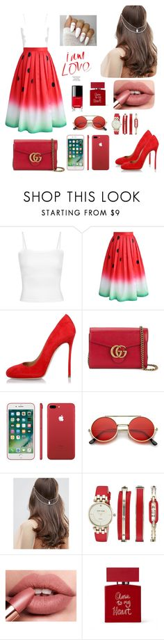 """""""🍉🍉🍉"""" by biancagrigoremihaela ❤ liked on Polyvore featuring Chicwish, Dsquared2, Gucci, ASOS, Anne Klein, Bella Freud and Chanel"""