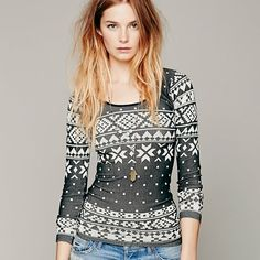 FREE PEOPLE INTARSIA LONG SLEEVE NWOT INTIMATELY FREE PEOPLE INTARSIA STRECH LONG SLEEVE. Sold out online! Size m/l. Any questions let me know! Free People Tops Tees - Long Sleeve