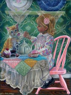 A Friend for Tea ~ Tricia Reilly-Matthews   Adorable for a little girl's room