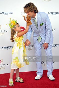 Dannielynn Hope 'Marshall' Birkhead and Larry E. Birkhead attends the 138th Kentucky Derby at Churchill Downs on May 5, 2012 in Louisville, Kentucky.