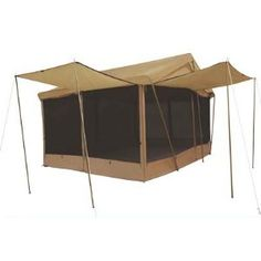 8 Awnings X Canvas Screen House Tent W/custom Fly - by Trek for sale online Screen Tent, Screen House, House Tent, Cabin Tent, Hiking Tent, Camping And Hiking, Camping Cabins, Camping Gear, Camping Tent For Sale