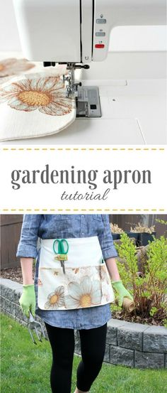 Learn how to sew your own gardening apron with handy pockets for keeping tools and supplies at your fingertips while protecting your clothes!