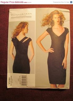 SALE Uncut Vogue Donna Karan Sewing Pattern 1280 by EarthToMarrs, $15.00