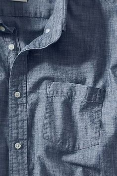 A light blue chambray shirt. Great investment piece.