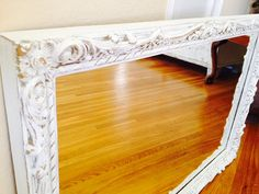 VINTAGE SHABBY CHIC Large White Ornate by SouthamptonVintage