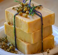 MAINE NATURAL Handmade artisan soap using buttermilk and organic pureed carrots and essential oils