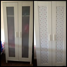 My very own Ikea hack. Done with Fablon self adhesive paper. It's so easy. :-)