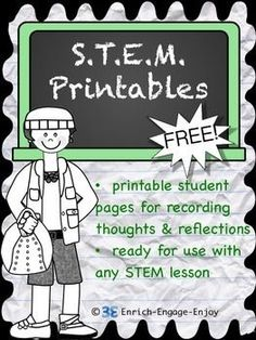 STEM activities are fun, hands-on, engaging, and collaborative. Students love the interactive nature of these activities, and teachers love the creative and critical thinking they require. This free pack of printables can be used with any STEM lesson!
