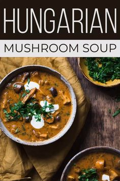HUNGARIAN MUSHROOM SOUP is a rustic, comforting dish using paprika, soy sauce, and sour cream for an earthy, simple mushroom soup recipe you'll love! recipes with ground beef Healthy Eating Tips, Healthy Soup, Clean Eating Snacks, Vegetarian Recipes, Cooking Recipes, Healthy Recipes, Keto Recipes, Quick Soup Recipes, Vegetarian Barbecue