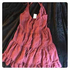 Brandy Melville Dress Maroon, brand new, Brandy Melville Dresses Mini