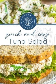 Tuna Recipes, Healthy Recipes, Kitchen Recipes, Cooking Recipes, Easy Tuna Salad, Soup And Sandwich, Wrap Sandwiches, Seafood Dishes, Soups