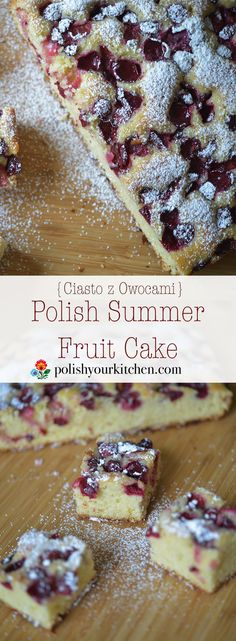 Simple Polish Summer Fruit Cake, buttery and light, with any fruit that are in y. - Simple Polish Summer Fruit Cake, buttery and light, with any fruit that are in your garden or marke - Polish Cake Recipe, Polish Recipes, Baking Recipes, Cake Recipes, Dessert Recipes, Food Cakes, Cupcake Cakes, Brownie Cupcakes, Fruit Cakes
