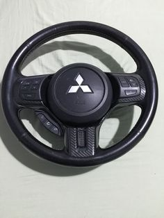 Mitsubishi Lancer Evolution 10 Steering Wheel with Airbag Carbon Fiber Vinyl…