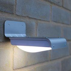 Kingavon 6 LED Solar Gutter Light Black Outdoor Garden Lighting Fence Wall Door
