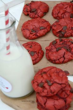 Red Velvet Chocolate Chip Cookies 5