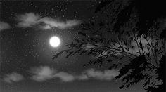 gif Black and White sky landscape moon scenery star cloud anime . Anime Moon, Sky Anime, Anime Gifs, Aesthetic Gif, Aesthetic Backgrounds, Aesthetic Black, Gif Animé, Animated Gif, Sky Gif