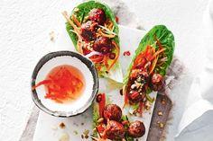 Vietnamese meatball lettuce wraps - delicious.