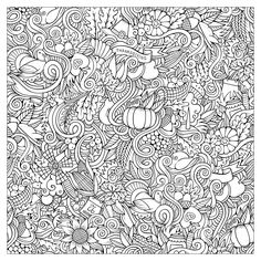 Thanksgiving Coloring Page For Adults Printable Pages