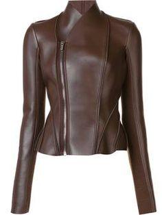 high neck zip up jacket