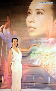 Singer Karen Mok attends the press conference of her tour concert in Taipei, Taiwan, June 2, 2015.  The concert is expected to be held at the Taipei Arena on September 19 http://www.chinaentertainmentnews.com/2015/06/karen-moks-tour-concert-to-start-in.html