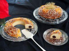 Roscón de Reyes relleno de mazapán de chocolate
