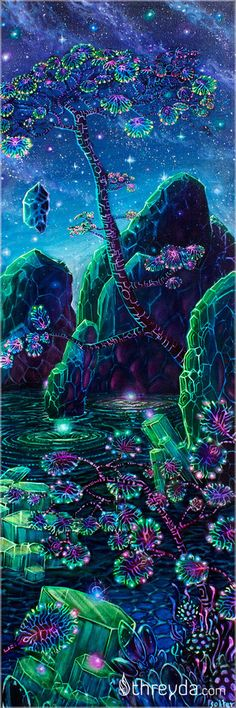 Crystal Pond by Jonathan Solter...same artist as fractal jelly pin below.