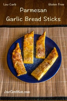 These parmesan garlic bread sticks are a low carb and gluten free copycat of Little Caesars Crazy Bread. So good, you can serve them those not on low carb.