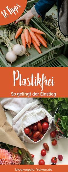 Shopping without plastic - 18 tips for getting started. Avoid rubbish, buy plastic-free, buy food un Clean My House, Diys, Green Life, Sustainable Living, Food Items, Diy Kitchen, Zero Waste, Food And Drink, Veggies