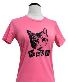 CAT TShirt  MEOW Kitty Cat Ladies Shirt  by theboldbanana on Etsy, $14.00