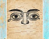Antique player piano paper prints eyes glasses optometrist by Paper Rescue Designs on Etsy