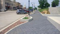 Unilock - West Union Main Street with Eco-Priora pavers in Iowa