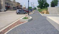 Unilock - West Union Main Street with Eco-Priora pavers in Iowa