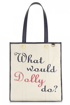 """Every Dolly Parton Fan Is Going to Want Reese Witherspoon's """"What Would Dolly Do?"""" Tote ASAP"""