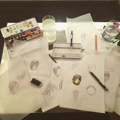 #painting #jonathanjohnson #jewelry #jewellery #workinprogress #wip