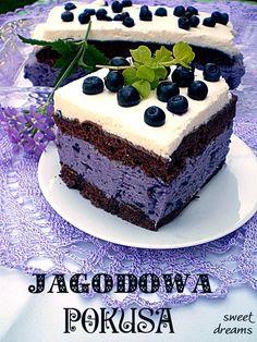 Jagodowa pokusa Polish Desserts, Polish Recipes, Pie Recipes, Dessert Recipes, Cooking Recipes, Sweet Pie, Homemade Cakes, Love Food, Bakery