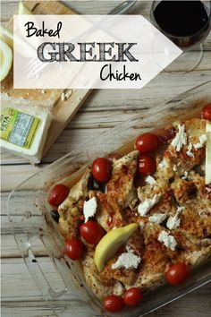 Edited to add: When I made this the second time, we didn't love it as much. Try at your own risk! :)   Baked Greek Chicken