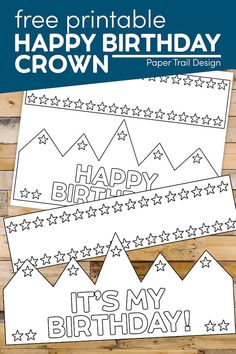 Use this free printable happy birthday crown printable to help a little one feel special on their birthday and give them a fun birthday coloring activity to do. Happy Birthday Crown, Happy Birthday Banners, Birthday Fun, Birthday Parties, Crown Printable, Printable Crafts, Free Printables, Alphabet Activities, Color Activities