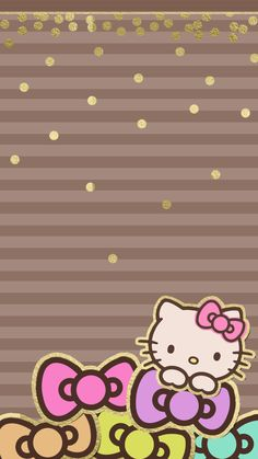 Imagen de hello kitty and wallpaper
