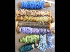 Here's an introduction to shifu and koyori. I cut washi paper into thin continuous strips, and spin it with a spinning wheel or bobbin winder. Then I weave i...
