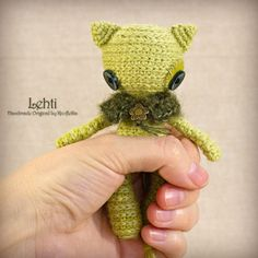 Lehti - Original Handmade Little Cat/Toy/Collectable/Gift/Charm