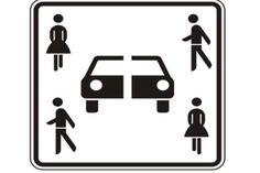 Wer hat das Auto durchgeschnitten? Dieses Schild soll Parkplätze für Carsharing-Kunden markieren