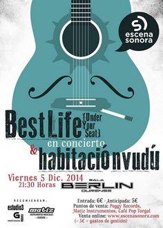 Viernes 5 de Diciembre BEST LIFE (UNDERYOURSEAT) + HABITACIÓN VUDÚ 21:30 | Entrada Anticipada 5€ Taquilla 6€