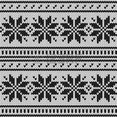 Escandinavo jersey de punto sin fisuras patrón geométrico en blanco y negro, vector Foto de archivo