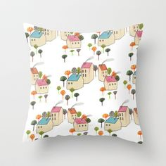 home Throw Pillow by anna grimal - $20.00
