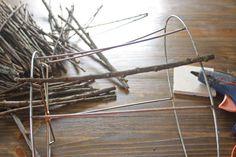 Twig Lamp Shade tutorial
